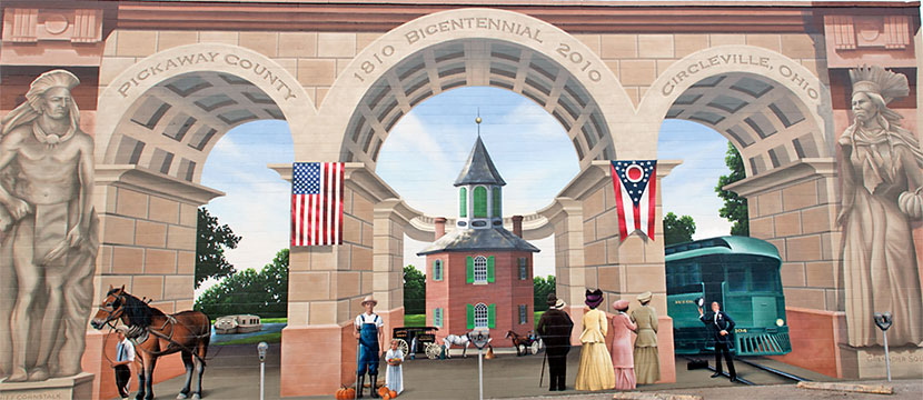 Photo Gallery - Panorama of Pickaway County Bicentennial Mural