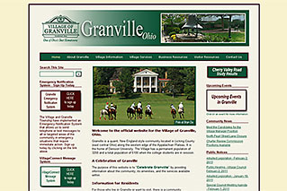 Web Design for Local Governments - Village of Granville - Dynamic Digital Solutions