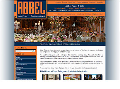 Abbel Rents - Web Design - Dynamic Digital Solutions