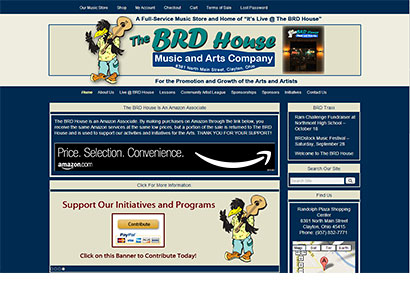 BRD House Music and Arts - Web Design - Dynamic Digital Solutions
