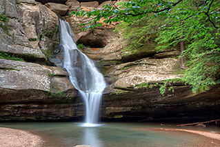 Photography for Tourism Associations - Cedar Falls in Hocking Hills State Park - Dynamic Digital Solutions