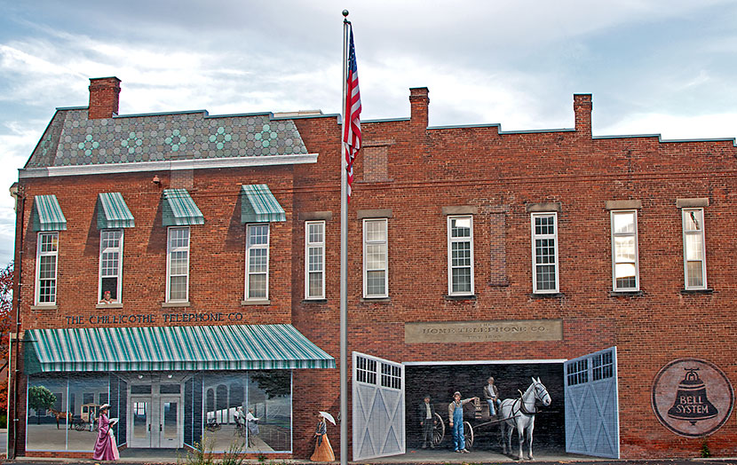 Photo Gallery - Telephone Company Mural in Chillicothe, Ohio