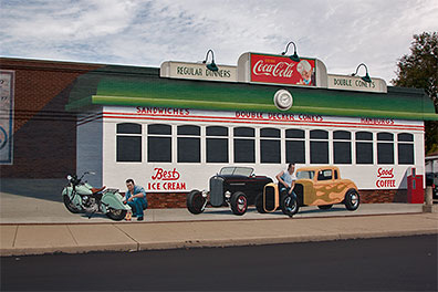Photo Gallery - Diner Mural