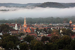 Gallery - Downtown Lancaster Ohio in Morning Fog
