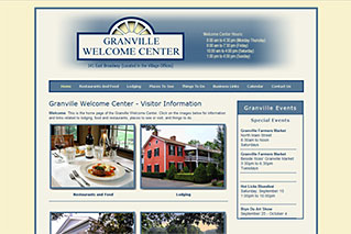Web Design for Local Governments - Granville Welcome Center - Dynamic Digital Solutions