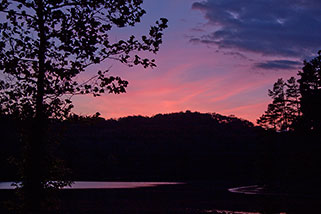 Photography for Communities - Sunset at Lake Hope State Park - Dynamic Digital Solutions