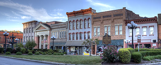Panoramic Images - Nelsonville Public Square - HDR Panorama