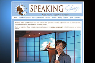 Web Design for Businesses - Speaking Grace Voice Over Company - Dynamic Digital Solutions
