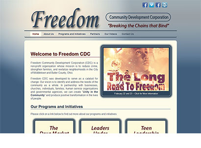 Web Design for Non-Profit Organizations - Freedom Community Development Corporation