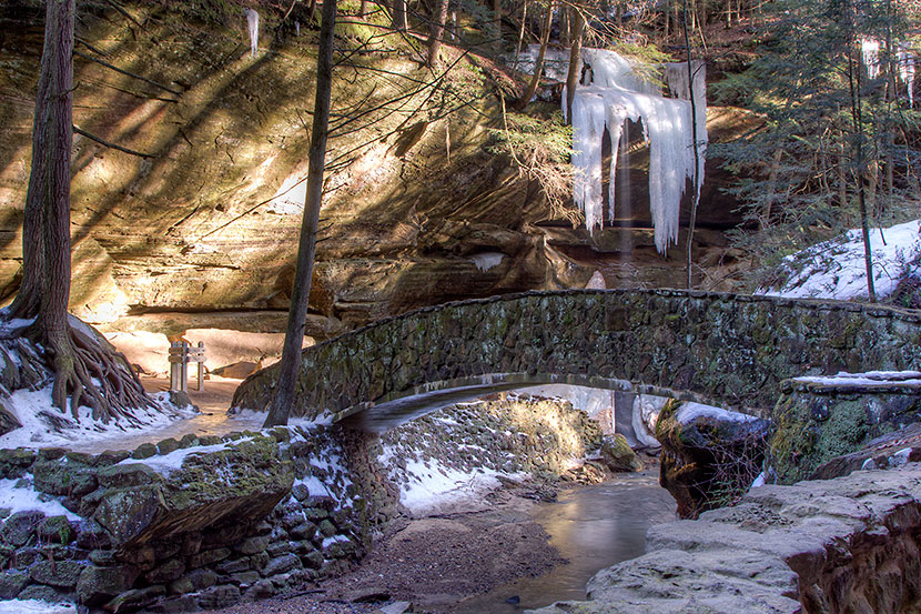 Photo Gallery - Bridge, Recess Cave and Ice Sculpture at Old Man's Cave - Dynamic Digital Solutions