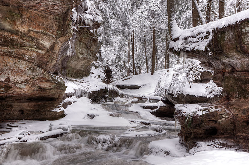 Photo Gallery - Gorge Area in Winter - Old Man's Cave - Hocking Hills State Park - Dynamic Digital Solutions
