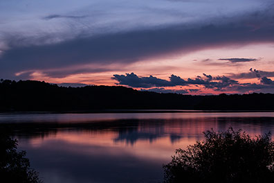 Lake Logan (Ohio) Sunset - Photo by Don Holycross, Dynamic Digital Solutions