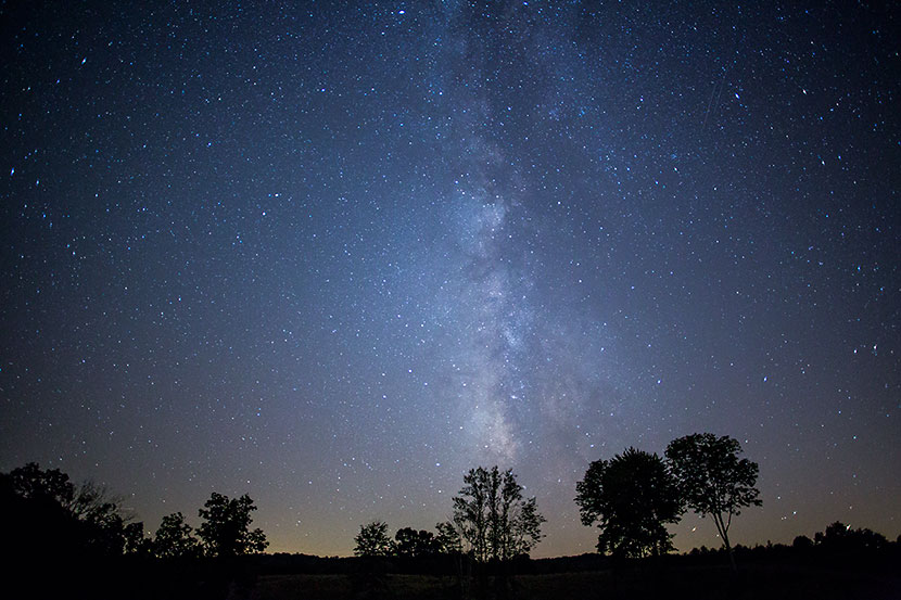 Milky Way Above Logan (Ohio) - Photo by Don Holycross, Dynamic Digital Solutions