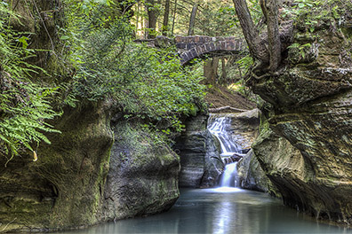 Waterfall from Devil's Bathtub - Old Man's Cave - Hocking Hills State Park - Hocking Hills Photography