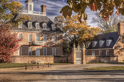 The Governor's Palace in the Fall - Colonial Williamsburg, Virginia - Don Holycross Photography