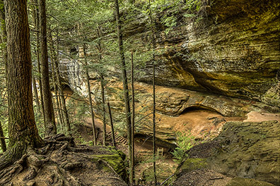 Overlook Near Old Man's Cave and Lower Falls - Old Man's Cave - Hocking Hills State Park - Hocking Hills Photography