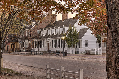 Raleigh Tavern in the Fall - Colonial Williamsburg, Virginia - Don Holycross Photography