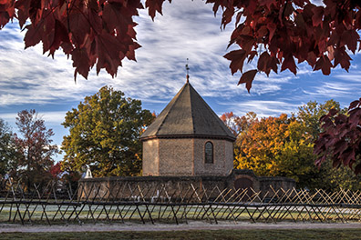 The Magazine at Colonial Williamsburg in the Fall - Williamsburg, Virginia - Don Holycross Photography