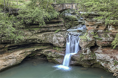 View of Upper Falls from Gorge Trail - Old Man's Cave - Hocking Hills State Park - Hocking Hills Photography