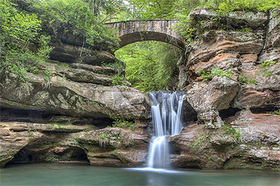 Spring at Upper Falls- Old Man's Cave - Hocking Hills State Park - Hocking Hills Photography